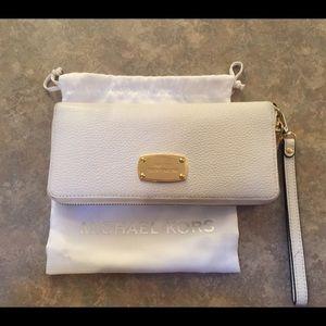 Michael Kors White Leather Full Size Wallet